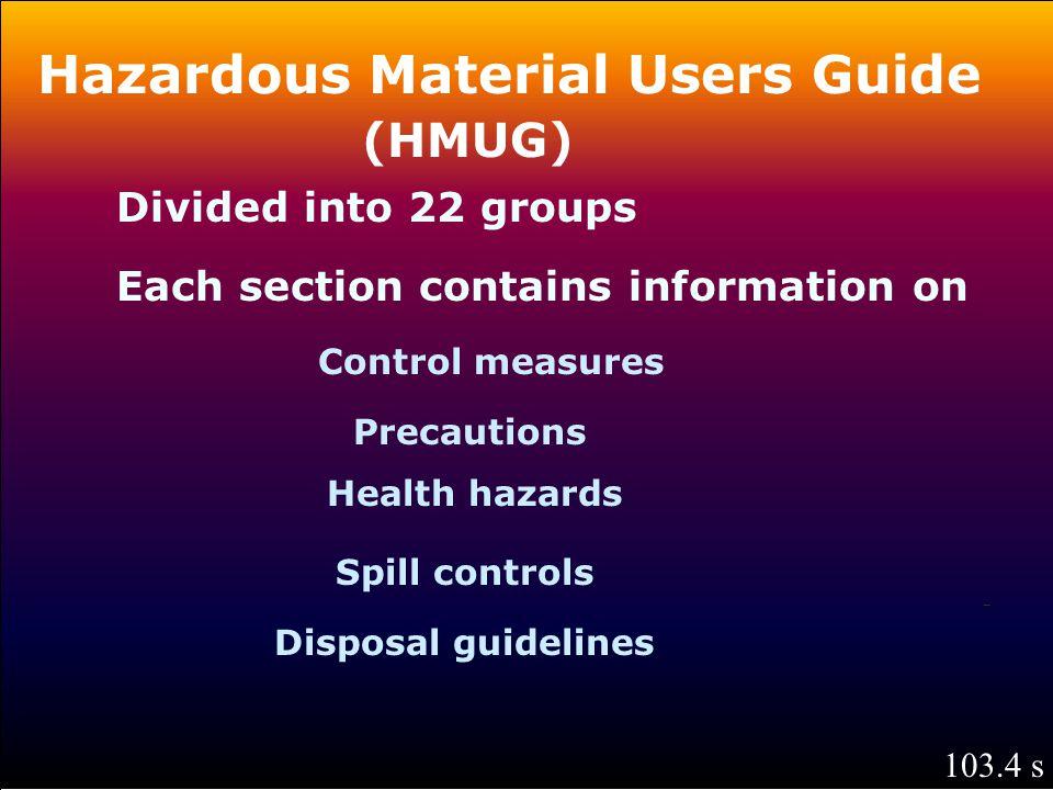 Hazardous Material Users Guide