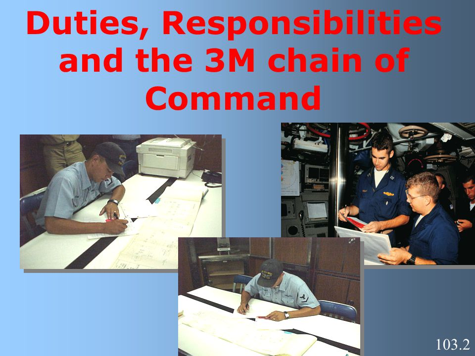 Duties, Responsibilities and the 3M chain of Command