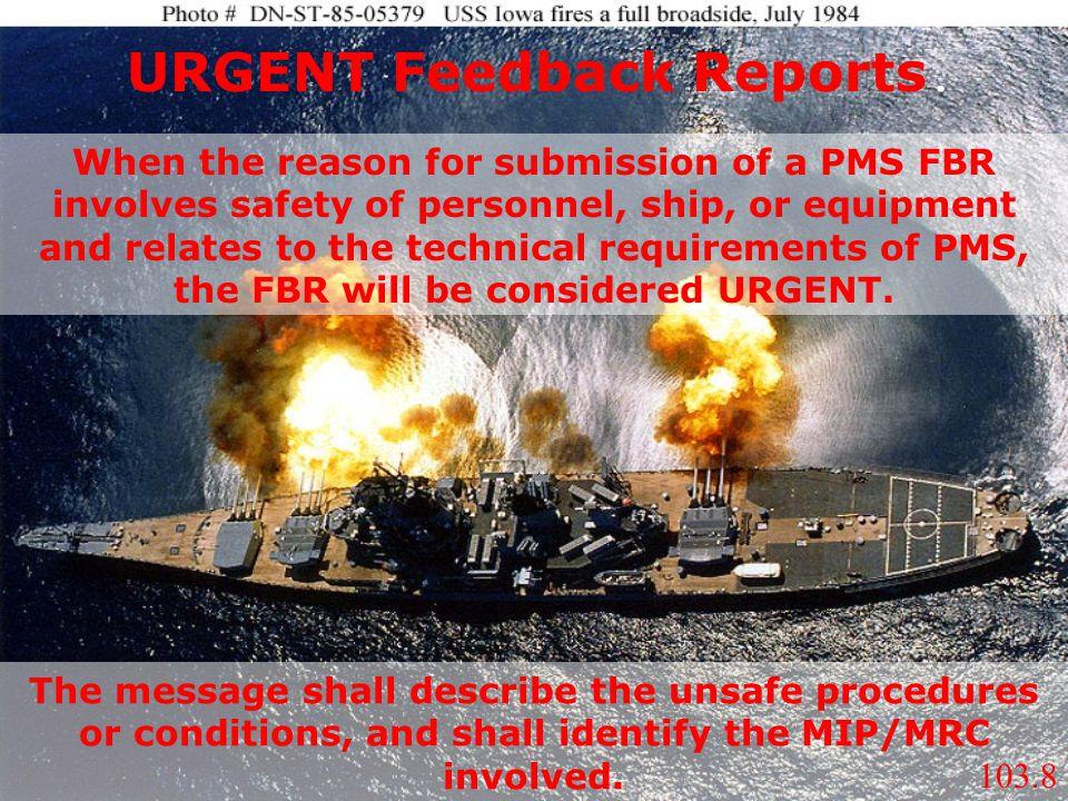 URGENT Feedback Reports.