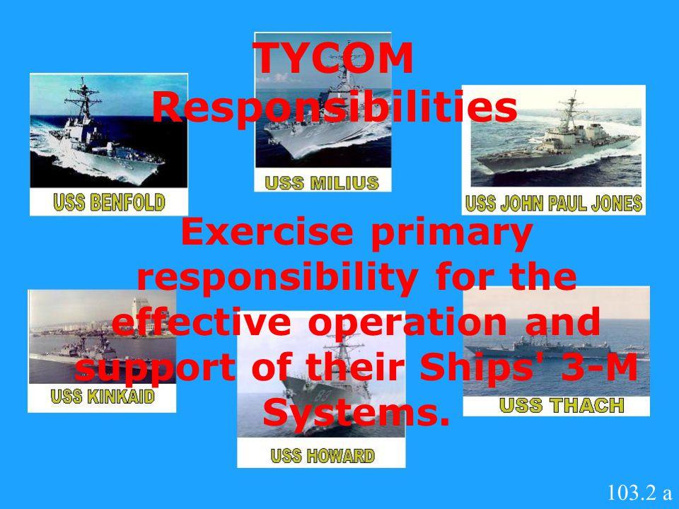 TYCOM Responsibilities