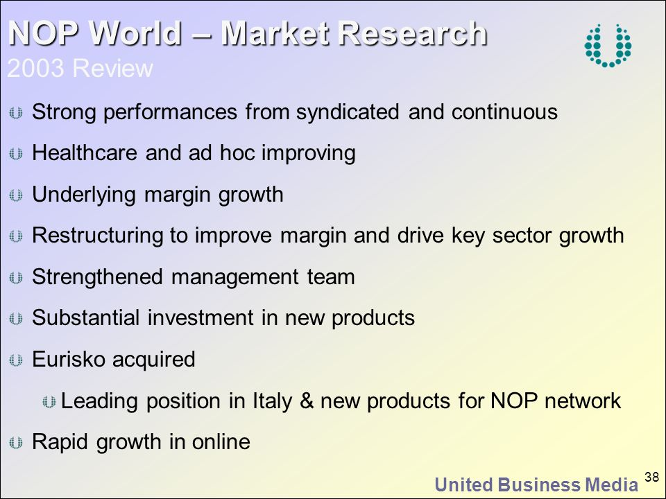 NOP World – Market Research 2003 Review