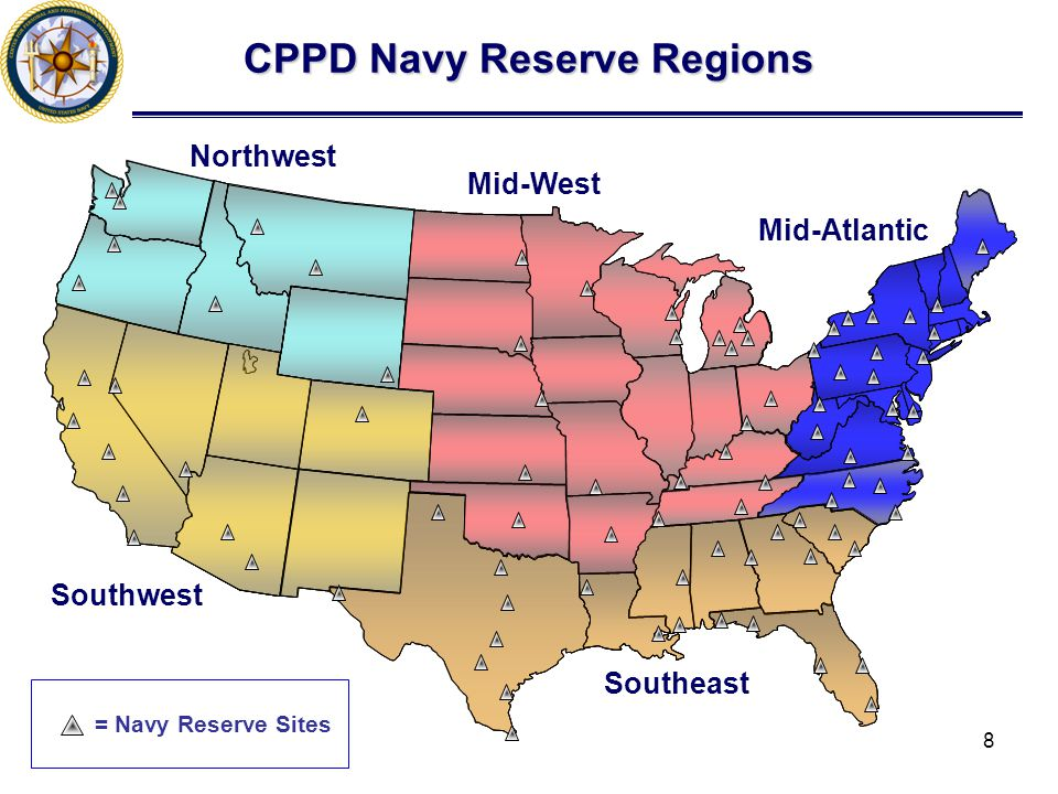 CPPD Navy Reserve Regions