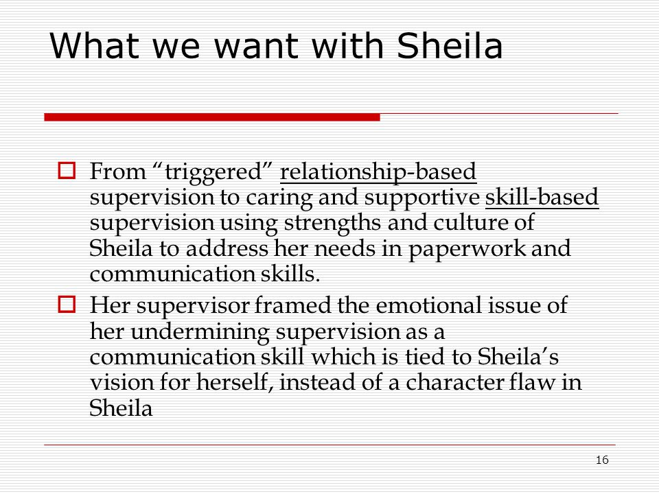 What we want with Sheila
