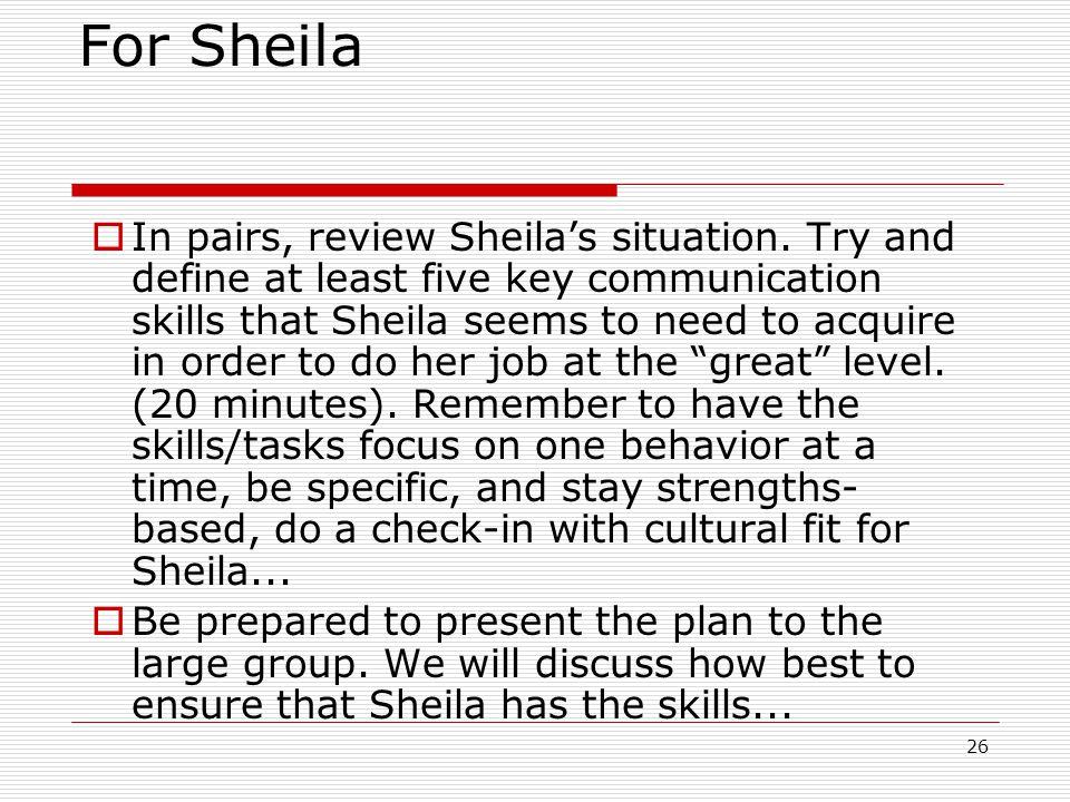 For Sheila