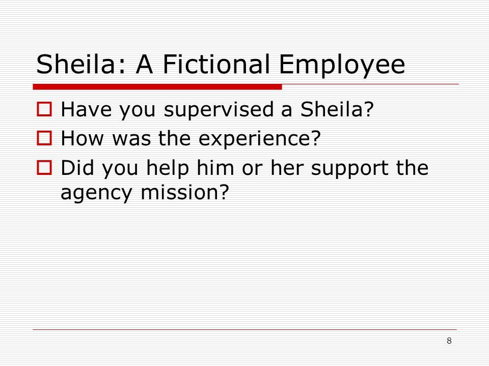 Sheila: A Fictional Employee