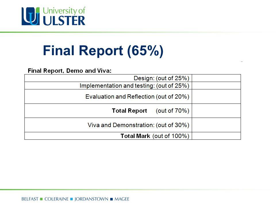 Final Report (65%)