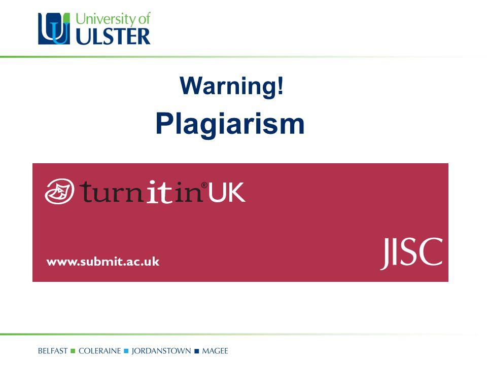 Warning! Plagiarism