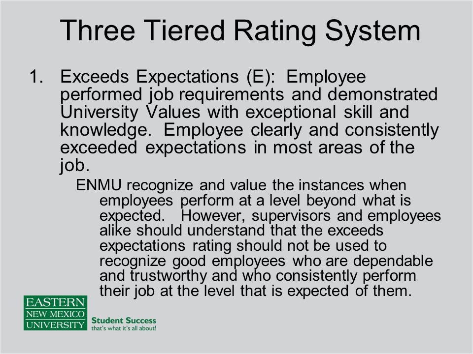 Three Tiered Rating System