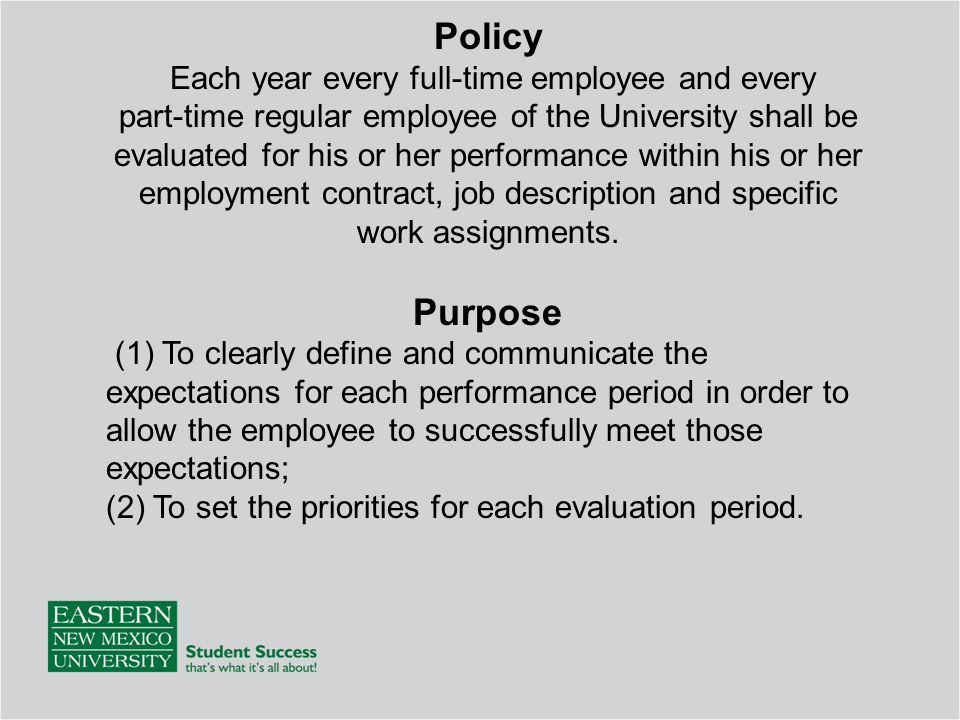 Enmu Employee Evaluation Training  Ppt Download