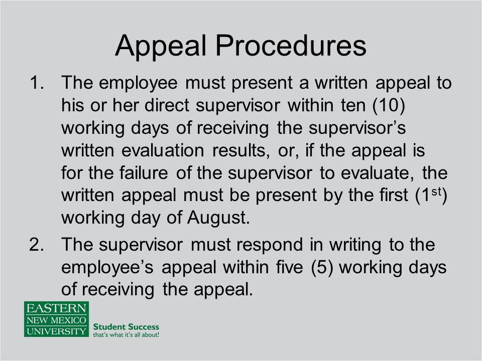 Appeal Procedures