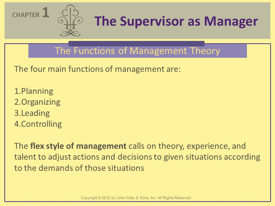 The Functions of Management Theory