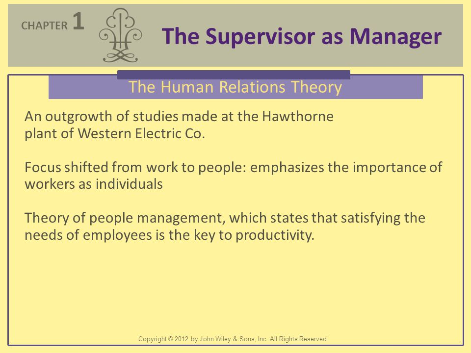 The Human Relations Theory