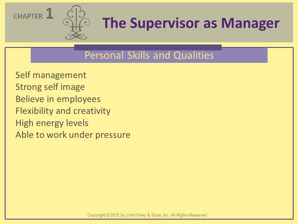 Personal Skills and Qualities