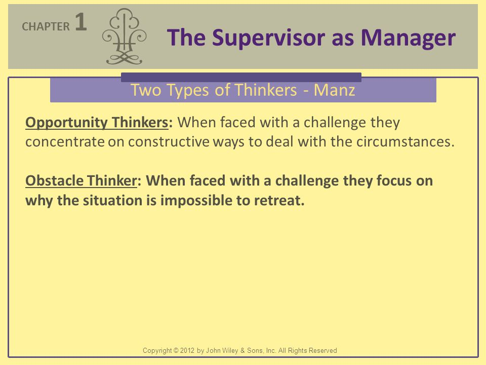 Two Types of Thinkers - Manz
