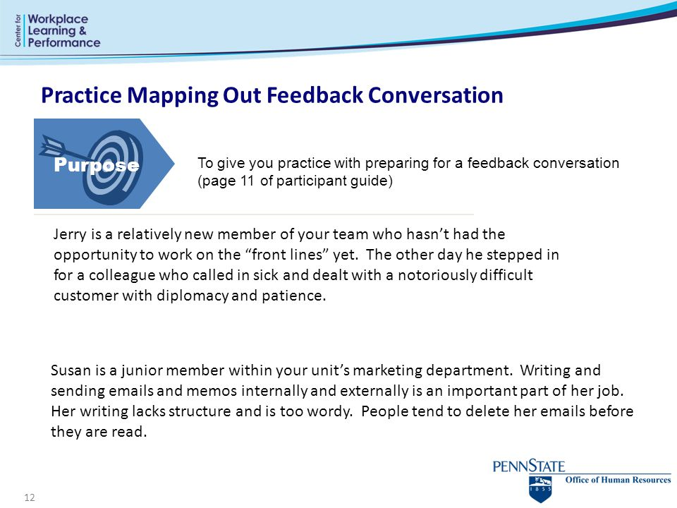 Practice Mapping Out Feedback Conversation