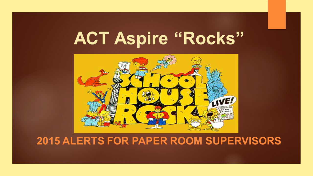 2015 Alerts for Paper Room Supervisors