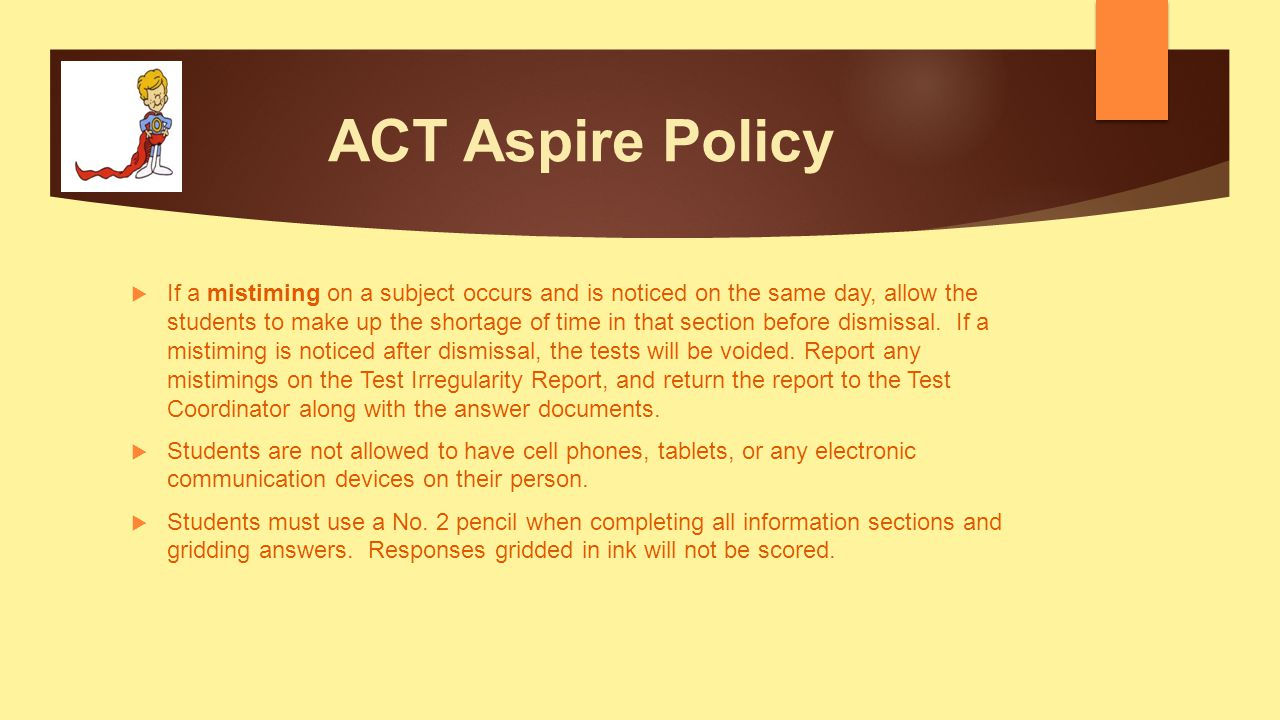 ACT Aspire Policy