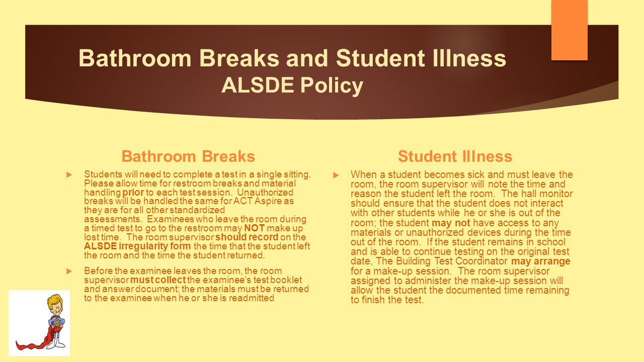 Bathroom Breaks and Student Illness ALSDE Policy