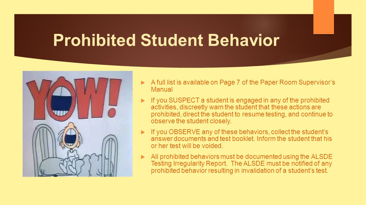 Prohibited Student Behavior
