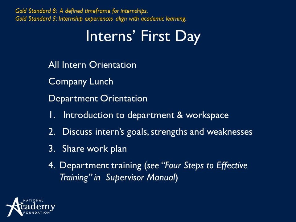 Interns' First Day All Intern Orientation Company Lunch