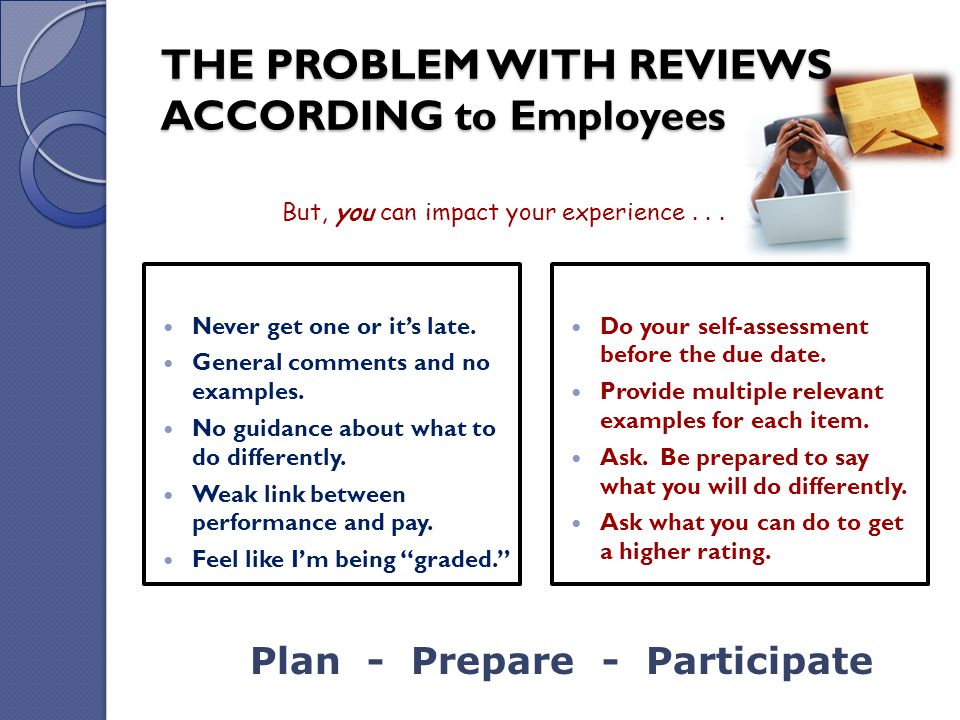 THE PROBLEM WITH REVIEWS ACCORDING to Employees