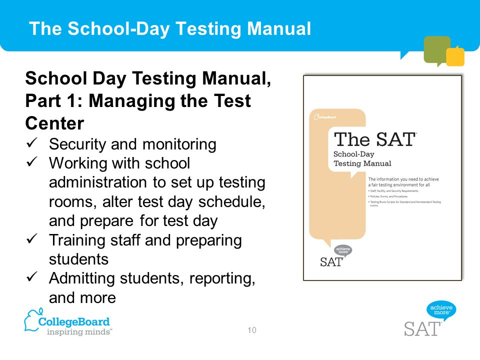The School-Day Testing Manual