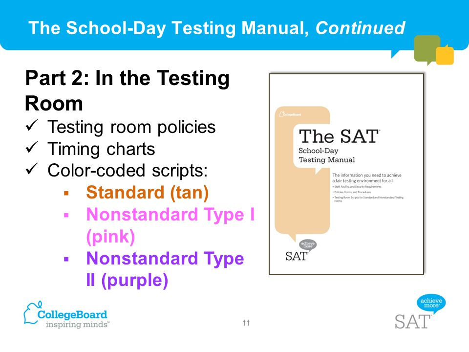 The School-Day Testing Manual, Continued