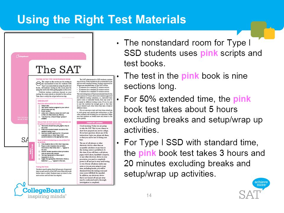 Using the Right Test Materials