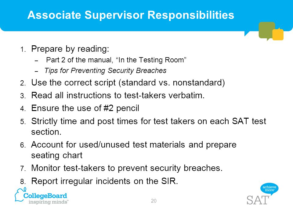 Associate Supervisor Responsibilities