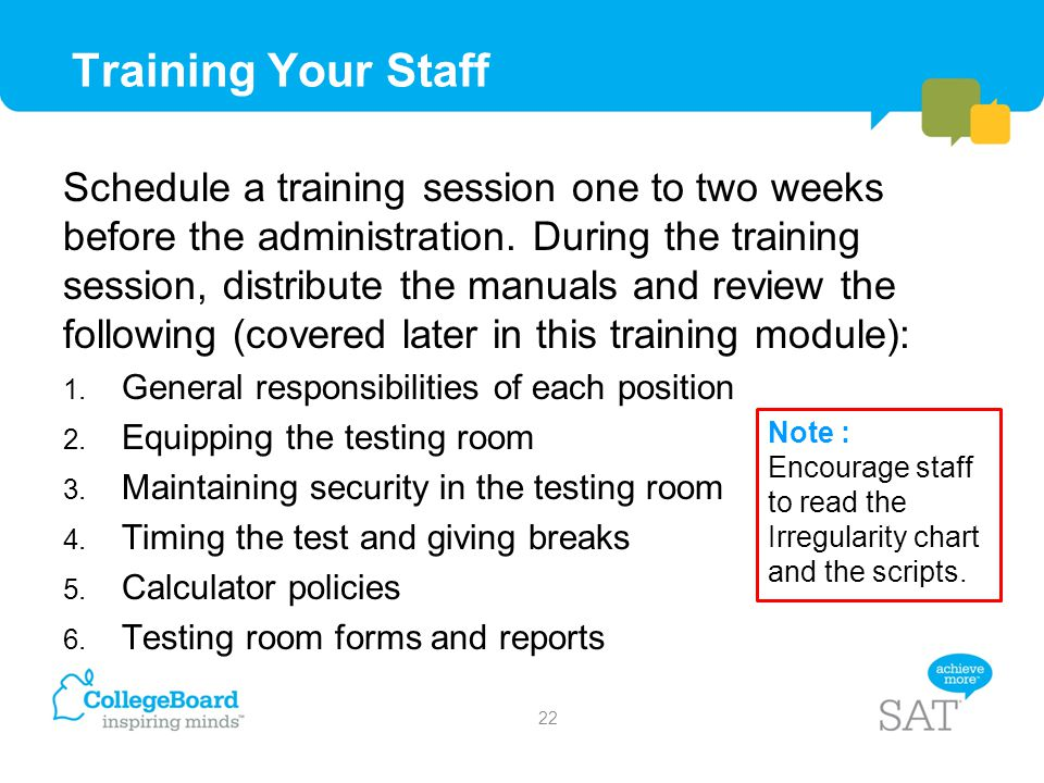 Training Your Staff