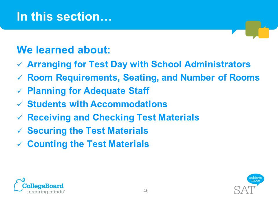 In this section… We learned about: