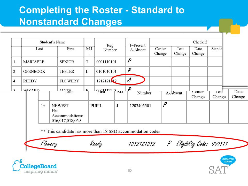 Completing the Roster - Standard to Nonstandard Changes