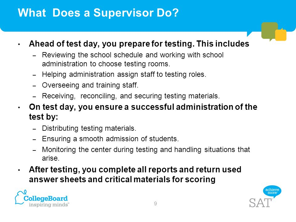 What Does a Supervisor Do