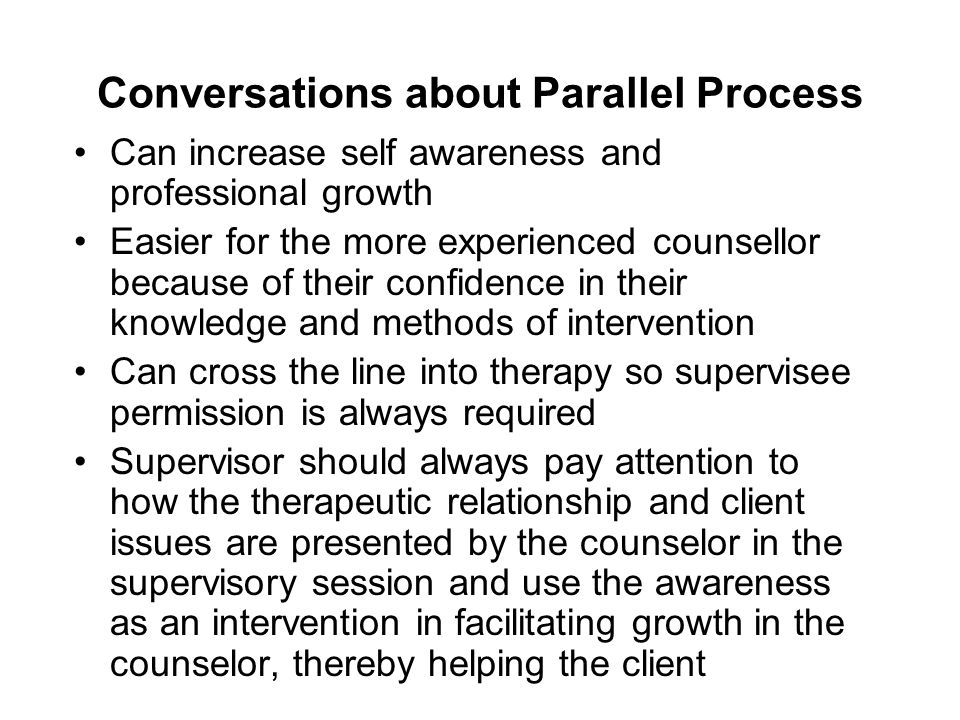 Conversations about Parallel Process