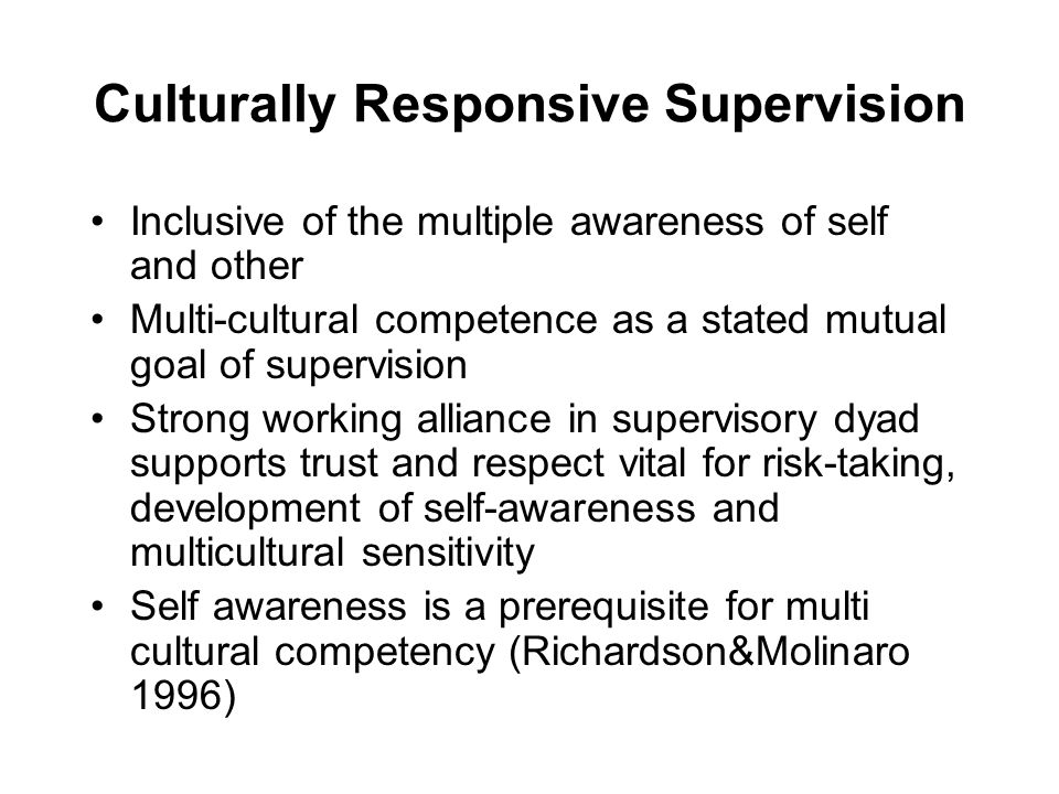 Culturally Responsive Supervision