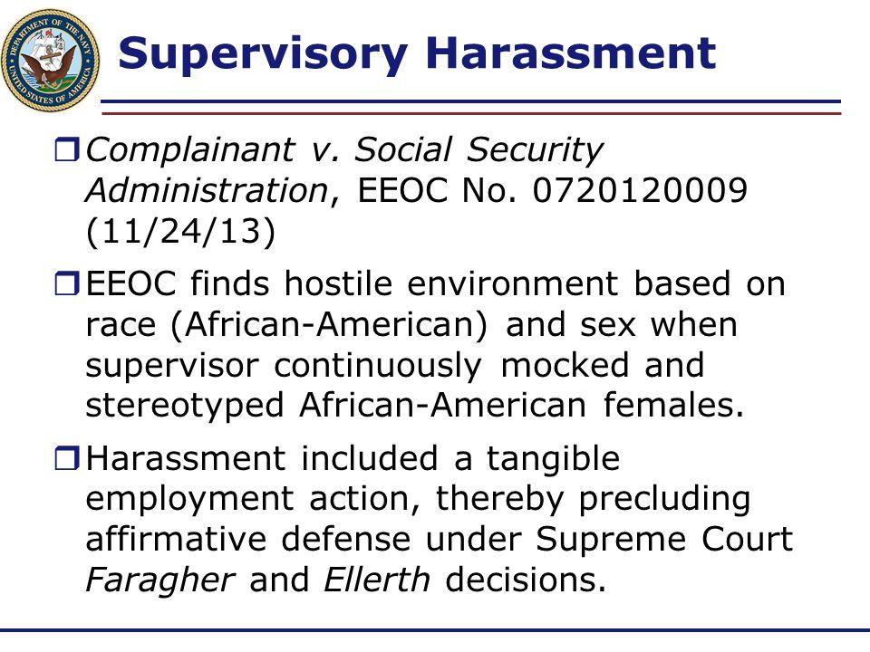 Supervisory Harassment