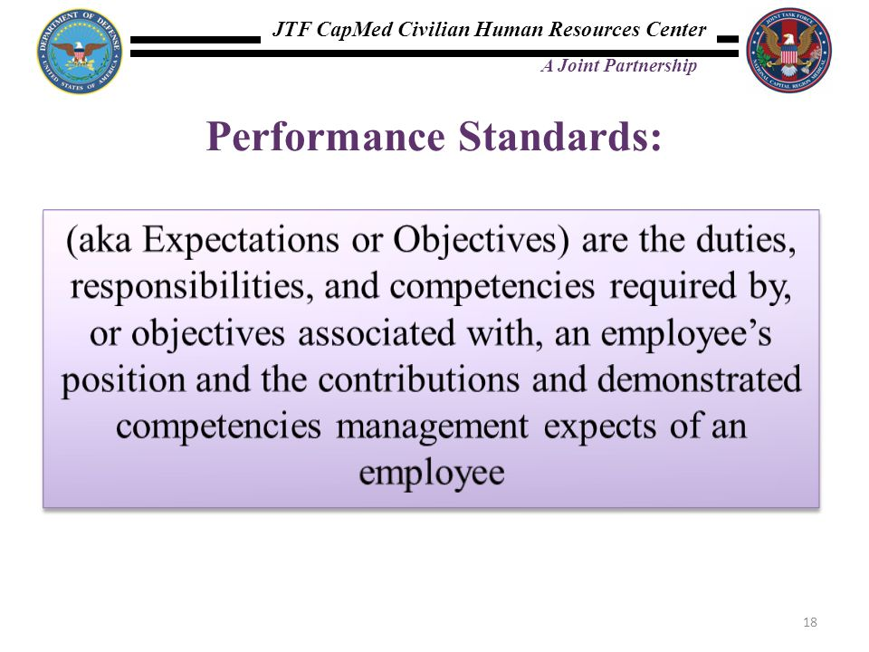 Performance Standards: