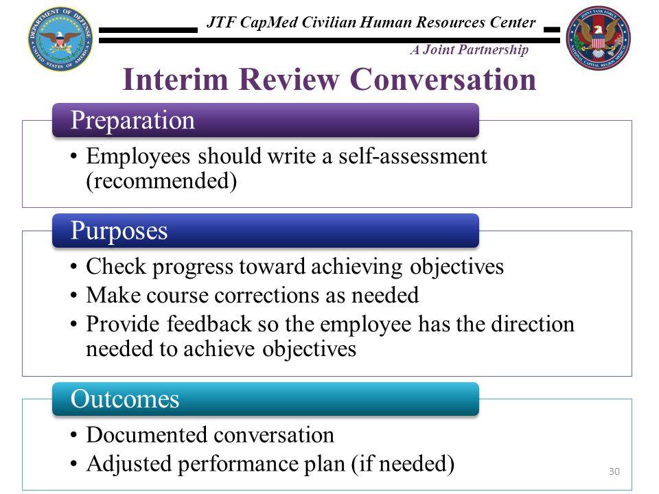 Interim Review Conversation