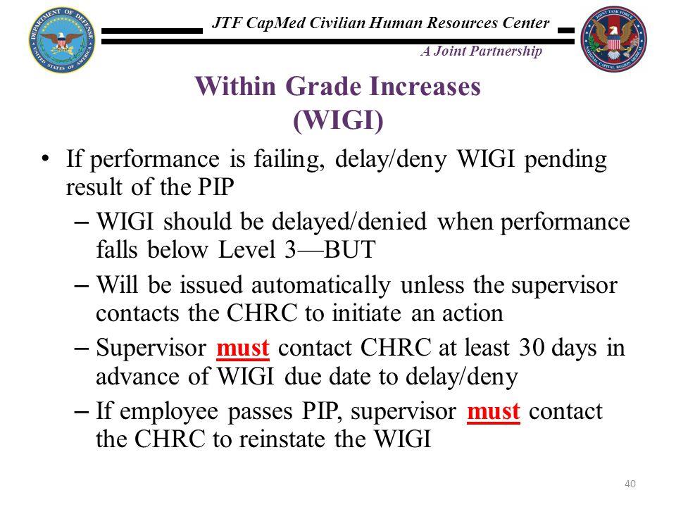 Within Grade Increases (WIGI)