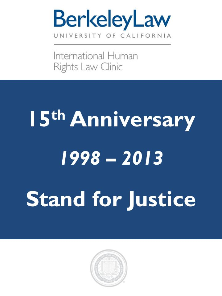 15th Anniversary Stand for Justice