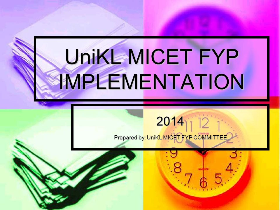 UniKL MICET FYP IMPLEMENTATION