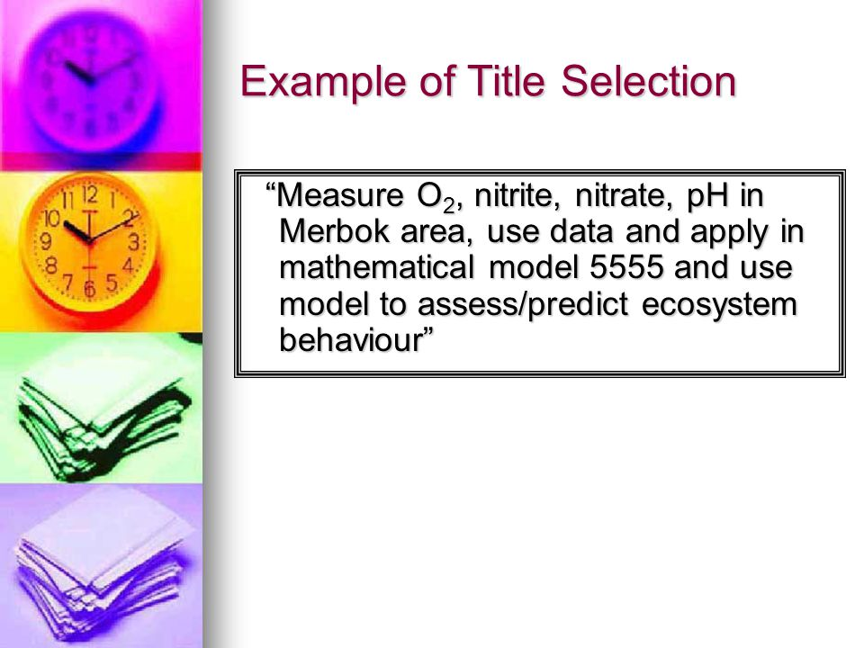 Example of Title Selection