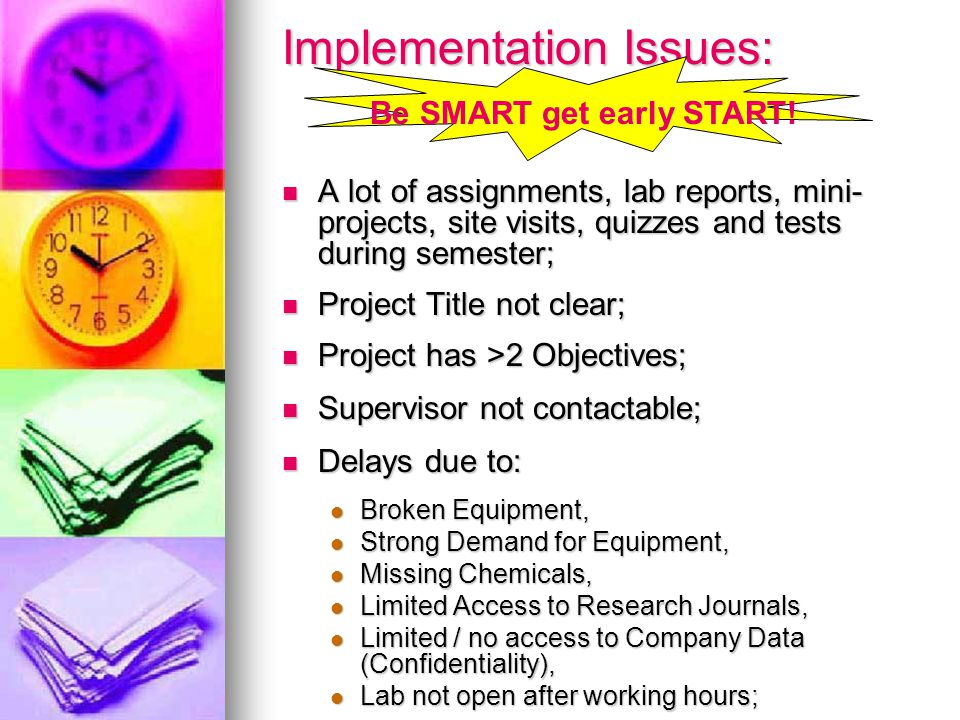 Implementation Issues: