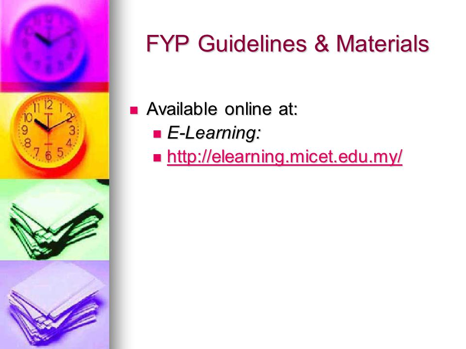 FYP Guidelines & Materials
