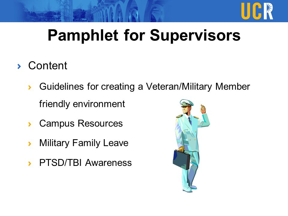 Pamphlet for Supervisors
