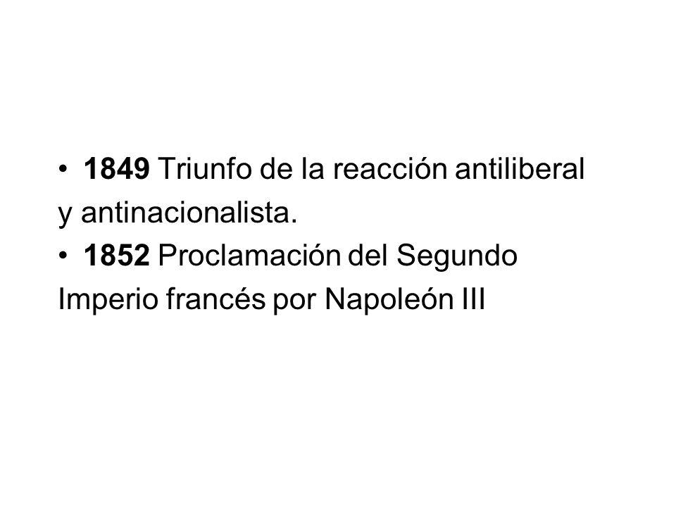 1849 Triunfo de la reacción antiliberal