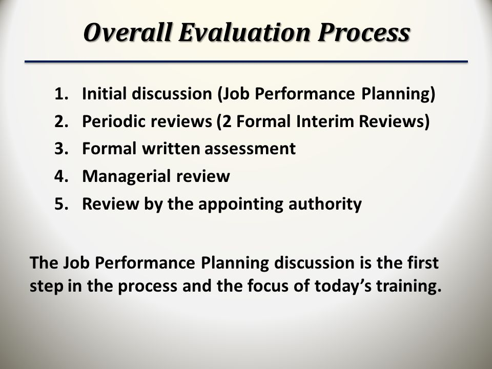 Overall Evaluation Process