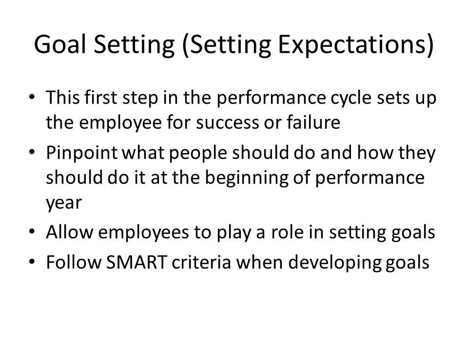 Goal Setting (Setting Expectations)