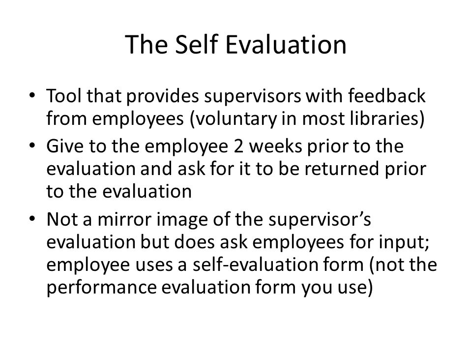 Setting Performance Goals and Evaluations ppt video online download – Self Performance Evaluation