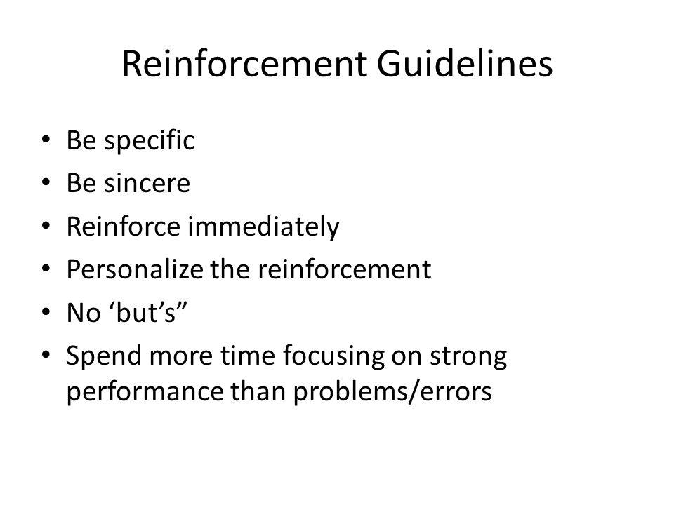 Reinforcement Guidelines